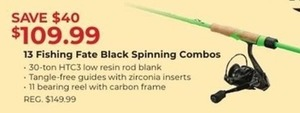 13 Fishing Fate Black Spinning Combos