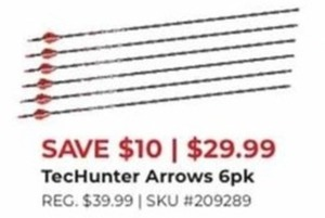 TecHunter Arrows 6 Pk