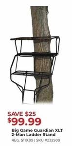 Big Game Guardian XLT 2-Man Ladder Stand