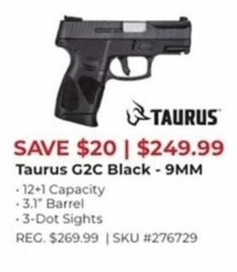 Taurus G2C Black 9MM