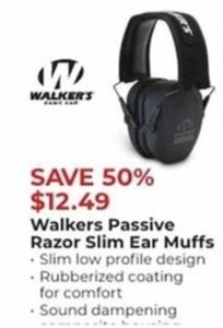 Walkers Passive Razor Slim Ear Muffs