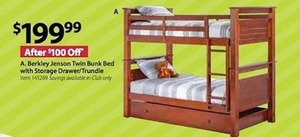 A. Berkley Jenson Twin Bunk Bed with Storage Drawer/Trundle