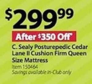 C. Sealy Posturepedic Cedar Lane II Cushion Firm Queen Mattress