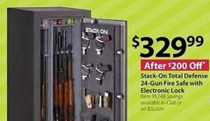 Stack-On Total Defense 24 Gun Fire Safe with Electronic Lock