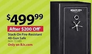 Stack-On Fire-Resistant 40 Gun Safe