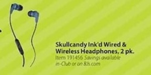 Skullcandy Ink'd Wired Wireless Headphones 2 Pk