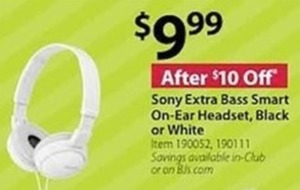 Sony Extra Bass Smart On Ear Headset