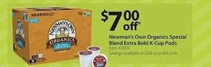 Newman's Own Organics Special Blend Extra Bold K-Cup Pods