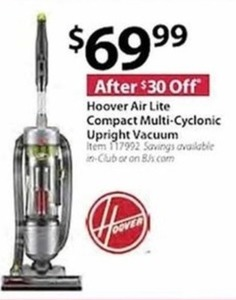Hoover Air Lite Compact Multi-Cyclonic Upright Vacuum