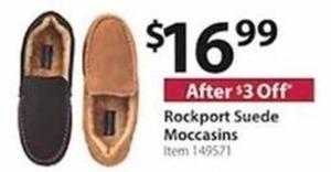 Rockport Suede Moccasins