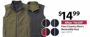 Free Country Men's Reversible Vest