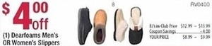 Dearfoam Men's or Women's Slippers