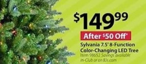 Sylvania 7.5' 8-Function Color Changing LED Tree