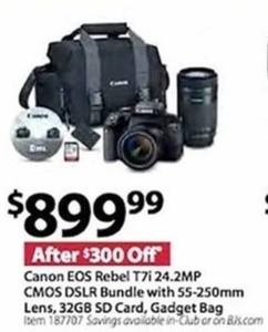 Canon EOS Rebel T7i 24.2 MP CMOS DSLR Bundle