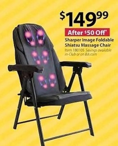 Sharper Image Foldable Shiatsu Massage Chair
