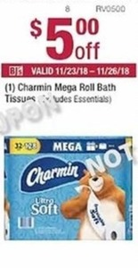 Charmin Mega Roll Bath Tissue Coupon
