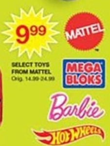 Select Toys from Mattel