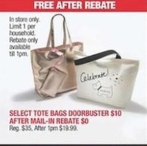 After Rebate - Select Tote Bags
