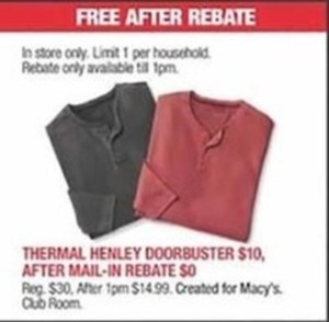Thermal Henley - After Rebate