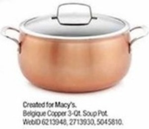 Belgique Copper 3-qt. Soup Pot After Rebate