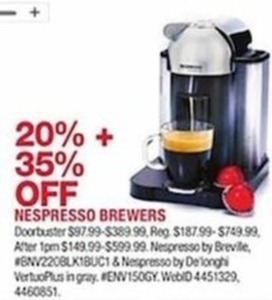 Nespresso Brewers