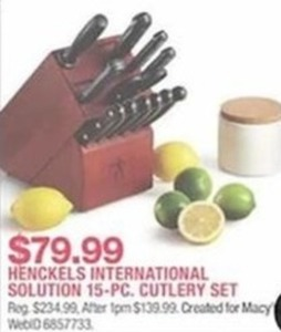 Henckels International Solution 15-Pc. Cutlery Set