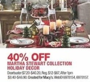 Marth Stewart Collection Holiday Decor