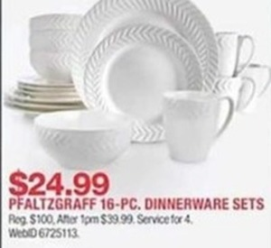 Pfaltzgraff 16 Pc. Dinnerware Sets