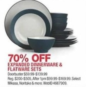 Expanded Dinnerware & Flatware Sets