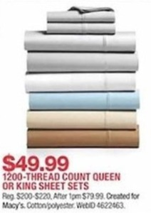 1200-Thread Count Queen or King Sheet SEts