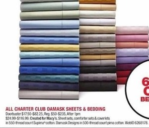 All Charter Club Damask Sheets & Bedding