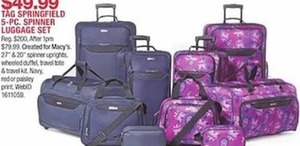 Tag Springfield 5-Pc. Spinner Luggage Set
