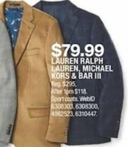 Lauren Ralph Lauren, Michael Kors and Bar III
