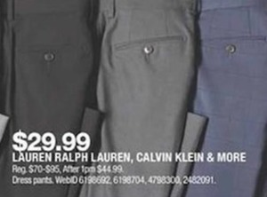 Calvin Klein and More Dress Pants