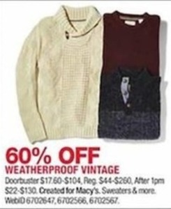 Created for Macy's Weatherproof Vintage Sweaters and More