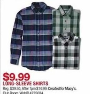 Created for Macy's Long-Sleeve Shirts