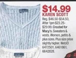 Karen Scott Sweaters and Vests