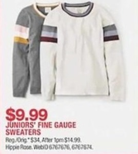 Juniors' Fine Guage Sweaters
