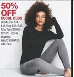 Cuddl Duds Tops and Leggings