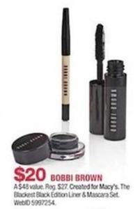 Bobbi Brown Blackest Black Edition Linder & Mascara Set