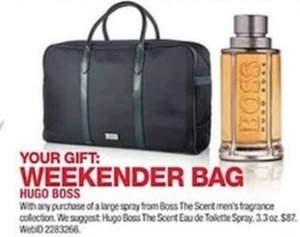 Weekender Gift Bag w/ Hugo Boss Fragrance Purchase