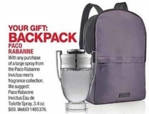Paco Rabanne Backpack w/ Large Spray Purchases