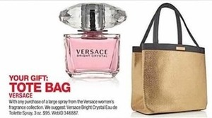 Versace Tote Bag w/ Fragrance Purchase