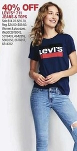 Levi's 711 Jeans and Tops