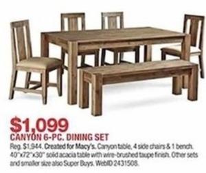 Canyon 6-Pc. Dining Set