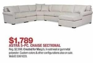 Astra 5-Pc. Chaise Sectional