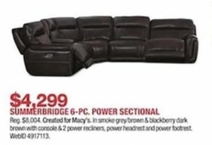 Summerbridge 6 Pc. Power Sectional