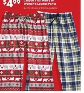 Canyon Trail Men's or Women's Lounge Pants