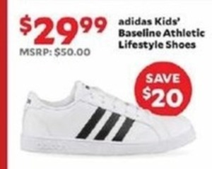 adidas Kids' Baseline Athletic Lifestyle Shoes