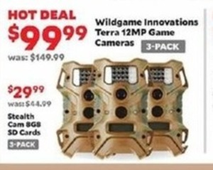 Wildgame Innovations Terra 12MP Game Cameras 3-Pack